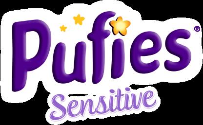 Логотип бренда Puffies Sensitive - детские подгузники